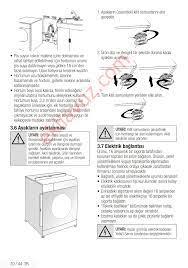 Arçelik 8127 NB Çamaşır Makinesi - Kullanma Kılavuzu - Sayfa:10 -  ekilavuz.com