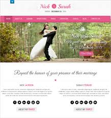 Wedding Website Template Cool Free One Page Wedding Website Template Popteenus