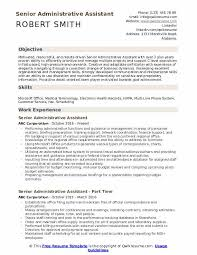 Office Assistant Objective Senior Administrative Assistant Resume Samples Qwikresume