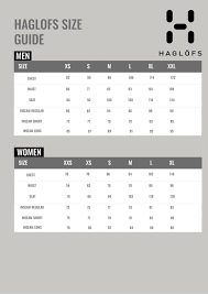 Haglofs Size Guide Nordic Outdoor