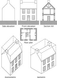 architecture drawing. Exellent Architecture Standard Views Used In Architectsu0027 Drawings In Architecture Drawing H