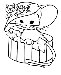 Cat Coloring Pages Printable Baby Cat Coloring Page Free Pages Big