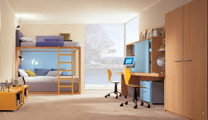 Natural color furniture Beige Violet Yellow And Blue Kids Room With Natural Wood Color Furniture Rakuten Violet Yellow And Blue Kids Room With Natural Wood Color Furniture