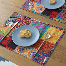 Us 138 2 Pcs Luxury Kitchen Table Mat Placemats Retangle Linen Cotton Table Mats For Dining Table Cloths Mats In Mats Pads From Home Garden On