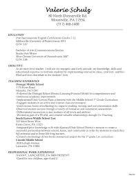 Objective For Teacher Resume Teacher Education Modern 100 Resumes Samples For Teachers Resume 100a 32