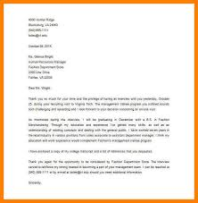 Thank You Letter After Interview Human Resources Manager