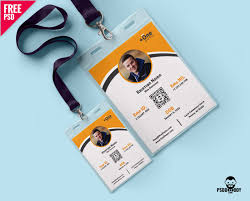 company id card templates download photo identity card template psd psddaddy com