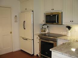 Kitchen Cabinet For Microwave Excellent Hallway Cabinet With White Painted Wooden Cabinet With