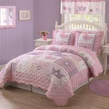 pink girls princess quilt set nice bedding with