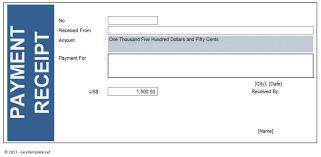 Payment Receipt Excel Template Exceltemplate Net