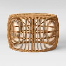 Rattan coffee tables, wicker coffee tables, garden coffee. Pyronia Rattan Cage Coffee Table Natural Opalhouse Target