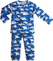 shadowy sharks infant and toddler pajamas shark blue pajama set for kids toddlers and babies and it s covered pictures of sharks and their shadows