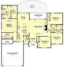 traditional style house plan 4 beds 2 00 baths 1875 sqft plans with bedrooms together house