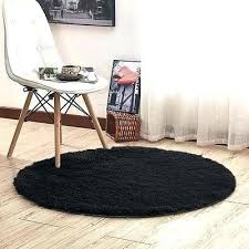 black fluffy carpet for bedroom round black gy fluffy rugs bedroom floor mat anti skid area
