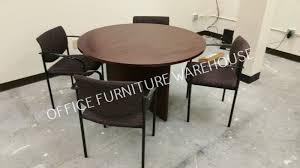 new mahogany 36 round conference table