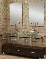 innovative double vessel sink glass top vanity with mahogany base of january 2017 captivating bathroom vanity twin sink enlightened