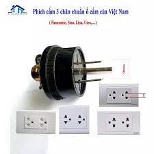 Phích cắm điện 3 chân chuẩn ổ cắm Việt Nam