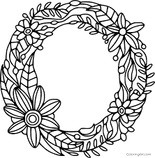 They will help to remember the alphabet, numbers, and account on the associative level. Flowers Shaped Letter O Coloring Page Coloringall