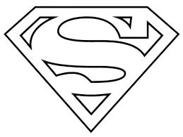 Supergirl Logo Printable Superman Superhero Coloring Superhero