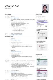 Referee Resume samples