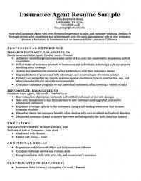 Insurance Broker Resume Sample Siamclouds Insurance Agent Resume