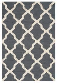ava ivory and dark grey area rug contemporary floor rugs by safavieh