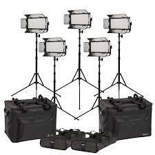 Led Light Kit Mylo Bi Color 5 Point Led Light Kit W 5 X Mb8 Includes Dv Batteries Stands And Bags