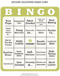 Resume Buzzwords Resume Buzzword Bingo Pongo Blog