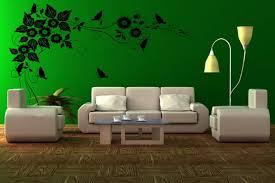 green wall interior paint designs