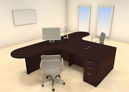 two desk office. two persons modern executive office workstation desk set chambs32