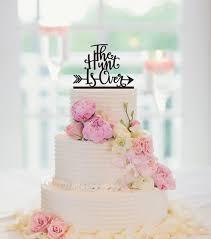 Berburu Berakhir Wedding Cake Topper Rustic Wedding Cake Topper