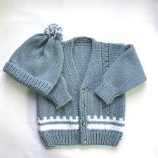 Light Blue Cardigan Toddler Toddler Blue Sweater And Hat Set 2 To 3 Years Toddler Blue Cardigan Set Boys Knit Sweater Childs Handknit Cardigan