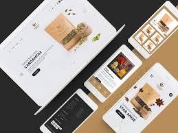 Spices Brochure Design Handpicked Spices Website Design Device Preview By Sharaful