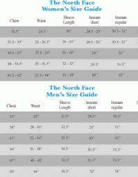 Authentic North Face Jacket Womens Size Chart 0d593 Bf654