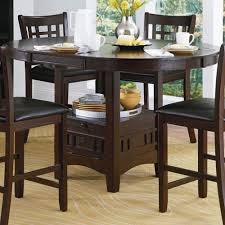 Kitchen Tables With Storage Homelegance Junipero Extension Counter Height Table W Storage