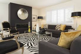 zebra area rug. Hollywood Regency Style Living Room Decor With Christian Lacroix Zebra Area Rug