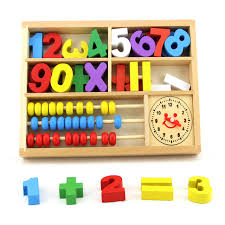 Wooden Math Games Montessori Baby Toys Math Games Early Educational Learning Wooden 25
