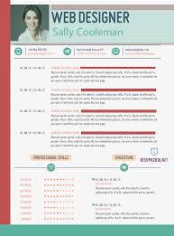 Web Designer Resume Sample. 20 Free Resume Design Templates For Web ...