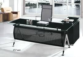 glass top office desk desks of with drawers contemporary i40 office