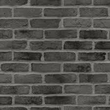 brick black wallpaper home decor