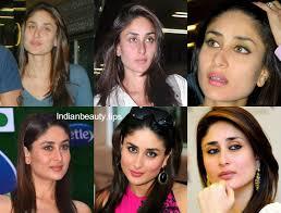 kareena kapoor without and with makeup