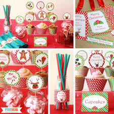 Summer Christmas Party Decoration Ideas by Pixiebear - Christmas in July  Party Ideas #SummerParty #