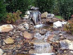 small backyard ponds and waterfalls with decorated