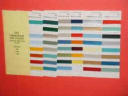 1969 Chevrolet Dodge Ford Truck Paint Chips Color Chart On