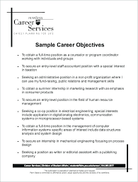 Career Objective On Resume Template Extraordinary Examples Of An Objective For A Resume Sample Objectives For Resumes