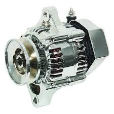 new alternator for chevy chevrolet mini denso street rod race  new chrome chevy mini alternator street rod race 1 wire