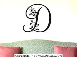 wall letter decals wall letter decals letter decals for walls single letter monogram decal initial wall
