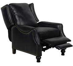 details about barcalounger ashton ii genuine leather recliner lounger chair pearlized black