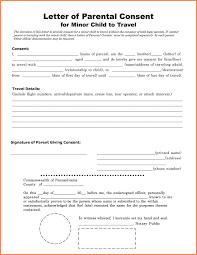 Child Travel Consent Letter Unique Nice E Parent Travel Consent Form ...