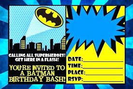 Free Birthday Invitations Batman Invitation Template Free Etspace Info